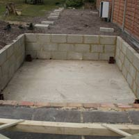 Concrete Base for Hot Tub