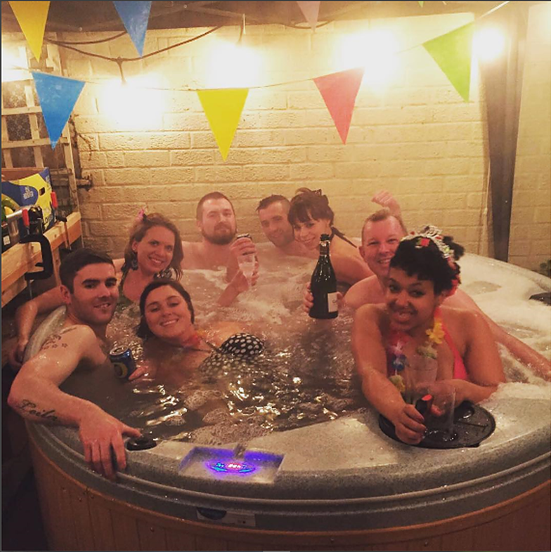 hot tub parties